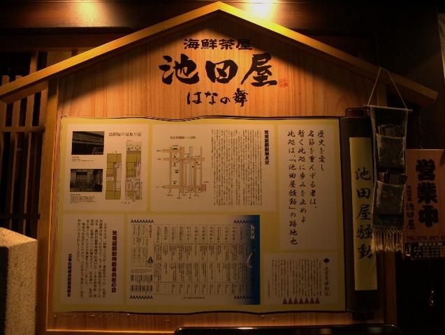 京都 池田屋看板